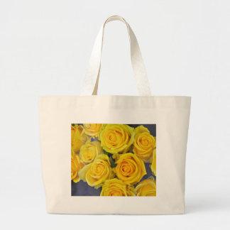 Beautiful yellow roses large tote bag