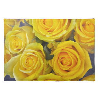 Beautiful yellow roses placemat