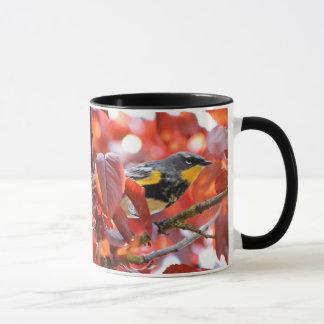 Beautiful Yellow-Rumped Warbler in the Tree Mug