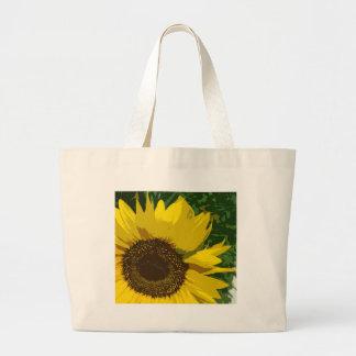 Beautiful yellow sunflower tote bags