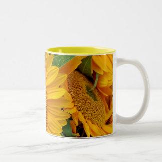Beautiful yellow sunflower mug