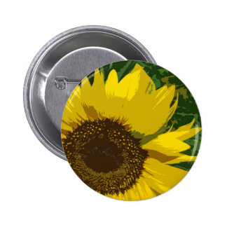 Beautiful yellow sunflower pin