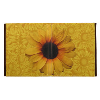 Beautiful Yellow Sunflowers iPad Folio iPad Folio Case