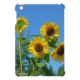 Beautiful yellow sunflowers iPad mini cases