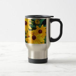 Beautiful yellow sunflowers print mugs