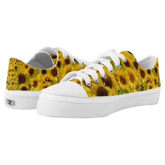 Beautiful Yellow Sunflowers Zipz Low Top Shoes