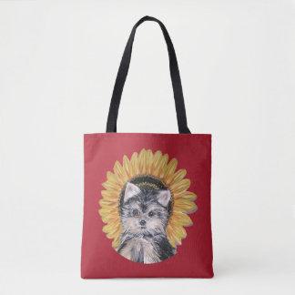 Beautiful Yorkie Dog Tote Bag