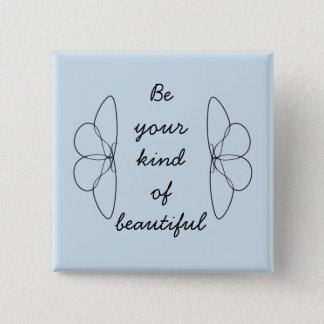 Beautiful You 15 Cm Square Badge