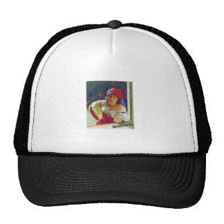beautiful young woman cap
