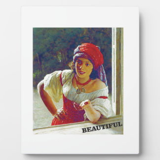 beautiful young woman photo plaques