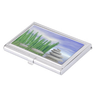 Beautiful zen landscape in the middle of aquatic business card holder