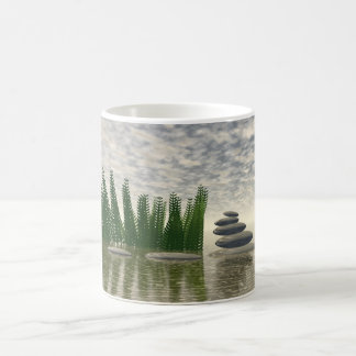 Beautiful zen landscape in the middle of aquatic coffee mug