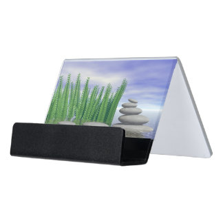 Beautiful zen landscape in the middle of aquatic desk business card holder