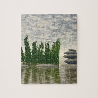 Beautiful zen landscape in the middle of aquatic jigsaw puzzle