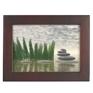 Beautiful zen landscape in the middle of aquatic keepsake box