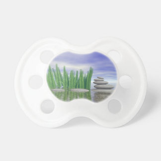 Beautiful zen landscape in the middle of aquatic pacifiers
