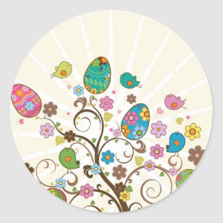 Beautifull East Eggs Design! Classic Round Sticker