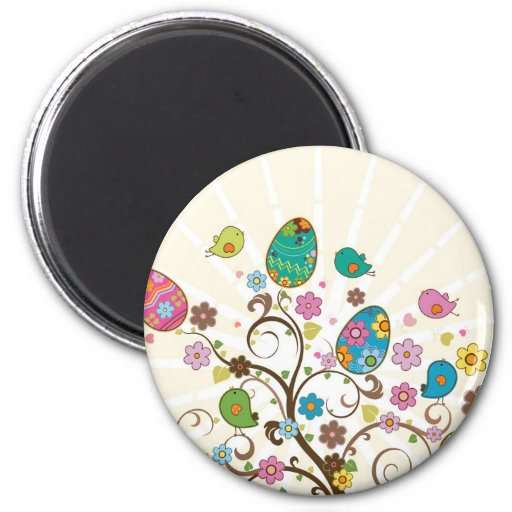 Beautifull East Eggs Design! Fridge Magnet