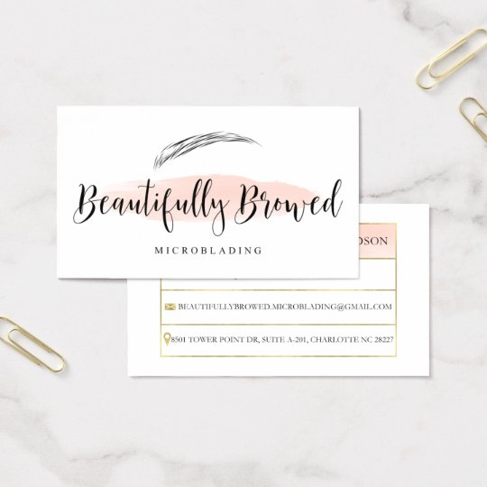 Beautifully Browed Business Card