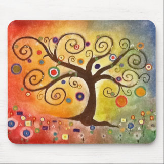Beautifully Colorful Tree of Life Fine Art Mouse Pad