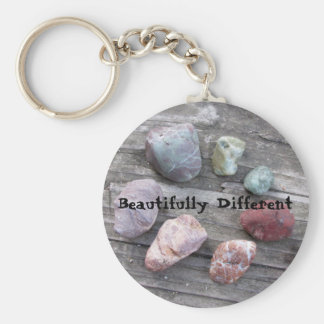 Beautifully Different Basic Round Button Key Ring
