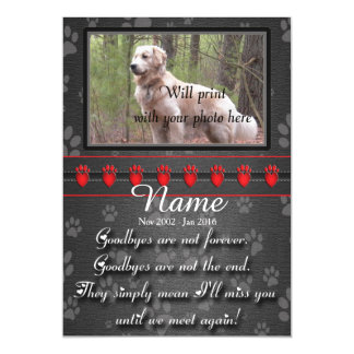 Beautifully Personalized Dog or Cat Memorial Magnetic Invitations