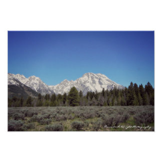 Beautifully Rugged Grand Tetons Poster