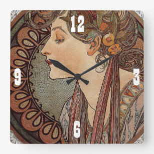 Art Nouveau Wall Clocks Zazzle Com Au