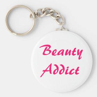 Beauty Addict Basic Round Button Key Ring