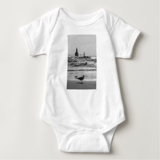 Beauty And Force Grayscale Baby Bodysuit