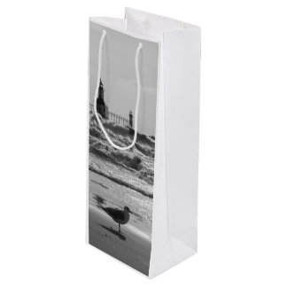 Beauty And Force Grayscale Wine Gift Bag