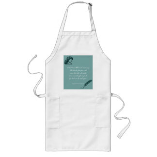 Beauty and Looks Quote Long Apron