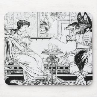 Beauty and the Beast, 1874 (litho) (b/w photo) Mouse Pad
