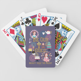 Beauty And The Beast | Be Our Guest Bicycle Playing Cards