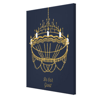 Beauty and the Beast | Chandelier - Be Our Guest Canvas Print