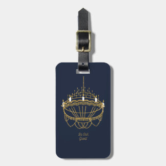 Beauty and the Beast   Chandelier - Be Our Guest Luggage Tag