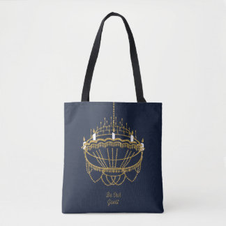 Beauty and the Beast   Chandelier - Be Our Guest Tote Bag
