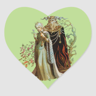 Beauty and the Beast Heart Sticker