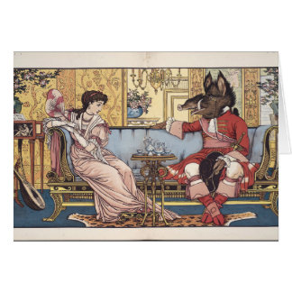 Beauty and the Beast Illustration, Card