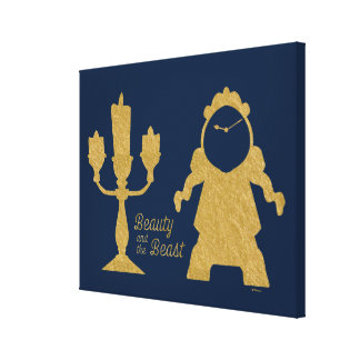 Beauty And The Beast | Lumiere & Cogsworth Canvas Print