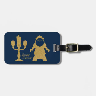 Beauty And The Beast   Lumiere & Cogsworth Luggage Tag