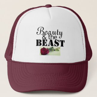 Beauty and the beast trucker hat