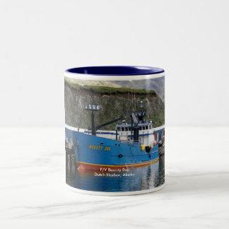 Beauty Bay, Crab Boat in Dutch Harbor, Alaska Two-Tone Coffee Mug