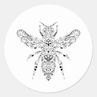 beauty bee classic round sticker