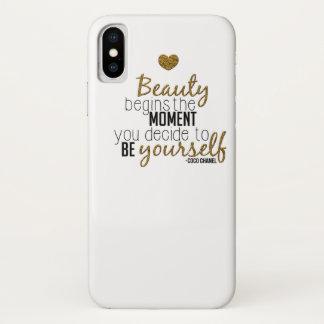 Beauty Begins iPhone X Case