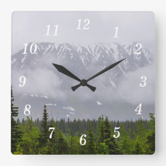 Beauty Behind The Clouds Square Wall Clock