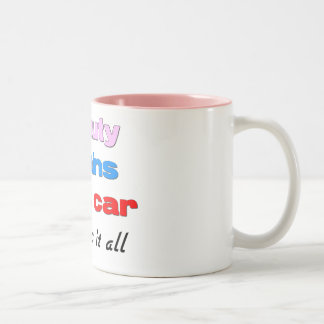 Beauty Brains Fast Car mug