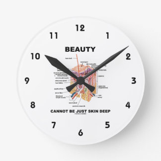 Beauty Cannot Be Just Skin Deep (Skin Layers) Round Clock