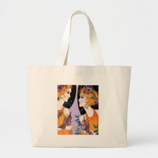 beauty chat large tote bag