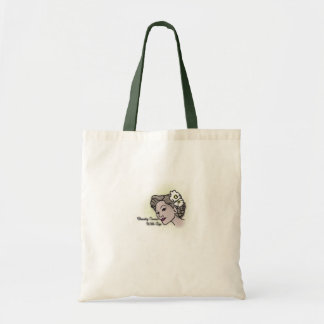 Beauty comes with age ladys tote budget tote bag